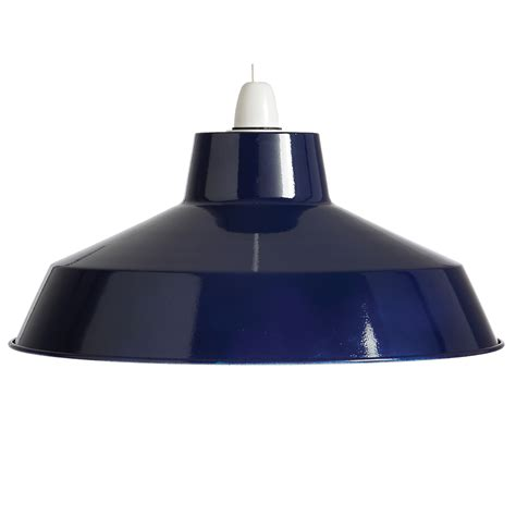 small dual fitting pluto metal lighting pendant shades blue