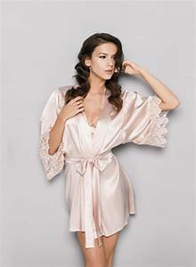 fleur of england blush guipure silk robe heaven lingerie With guipure robe