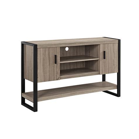 Buffet Console by 60 Quot Blend Tv Console Table Buffett Driftwood Black
