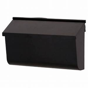 Gibraltar mailboxes woodlands black wall mount mailbox
