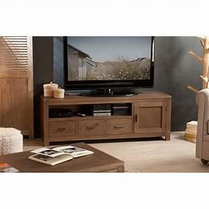 Meuble Bas Bois : meuble tv bois acajou cannelle 140 cm louna pier import ~ Teatrodelosmanantiales.com Idées de Décoration