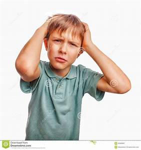 Boy Child Sad Angry Upset Kid Face Frustrated Stock Image ...