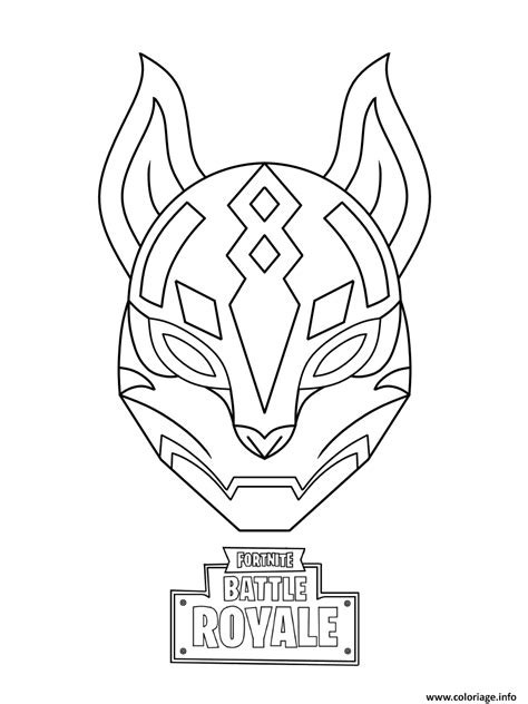 coloriage drift ultimate mask fortnite dessin
