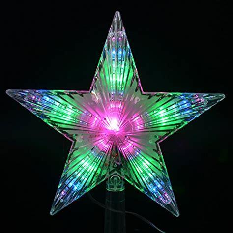 crazyfire 174 pentagram star christmas tree topper decoration