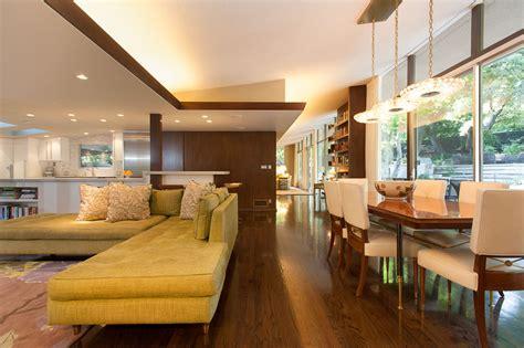 homes interiors mid century modern style