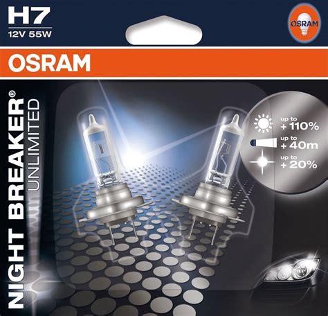 osram breaker unlimited h7 h7 osram breaker unlimited blister pack headlight two bulbs 64210nbu ebay