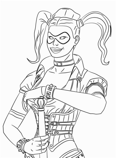 harley quinn coloring pages coloring home