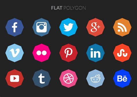 polygon social media icons