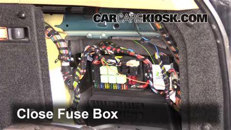 interior fuse box location   land rover range