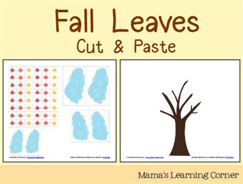 cut paste fall leaves mamas learning corner