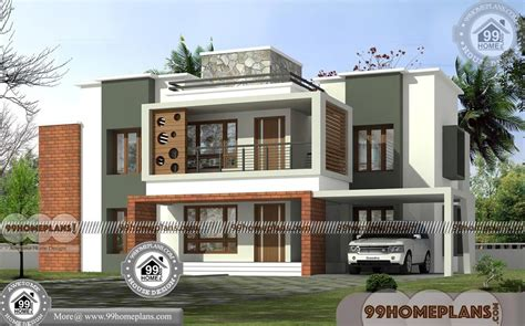 house design storey flat roof contemporary style modern plans