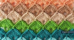 Crochet Triangle Stitch Shawl