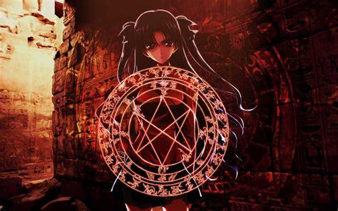 tohsaka rin rin tohsaka fatestay night wallpaper