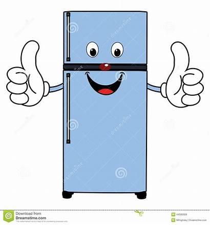 Fridge Refrigerator Cartoon Clipart Happy Illustration Stinky