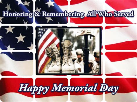 honoring remembering   served happy memorial day