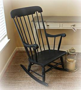 Vintage, Rocking, Chair, With, Damaged, Finish, Gets, A, New, Look