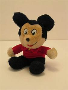 Vintage Knickerbocker Mickey Mouse 9 inch Plush Doll