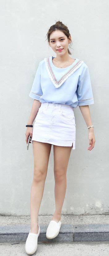 Outfit falda blanca+blusa marinera celeste   Definiendo mi estilo   Pinterest   Outfit falda ...