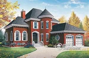 Plan Grande Maison : plan de maison unifamiliale w3433 de dessins drummond grande maison avec tourelle et int rieur ~ Melissatoandfro.com Idées de Décoration