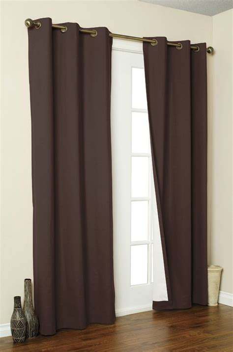 2x panels pair microfiber blackout grommet curtain