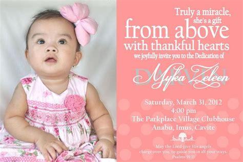 pin  lovelyn  diy invitations baby dedication