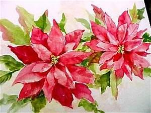 Painting Poinsettias Susie Short s Watercolor Christmas