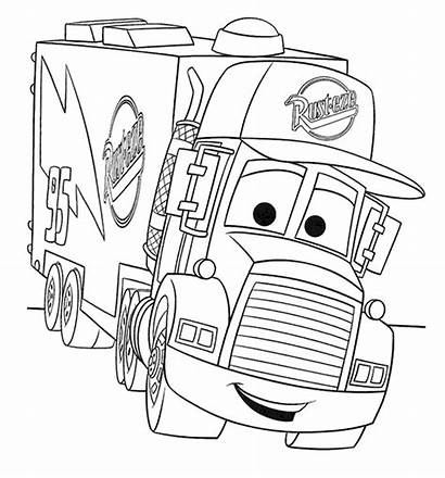 Coloring Truck Pages Semi Printable Colouring Sheets