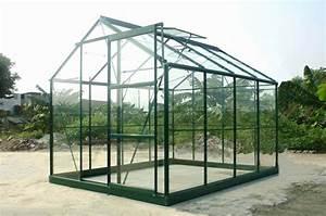 Serre Acier Verre : serre verte 86 en verre tremp m chalet jardin ~ Premium-room.com Idées de Décoration