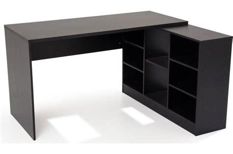bureau noir but bureau en imitation bois noir avec retour trend design sur
