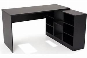 Bureau But Noir : bureau en imitation bois noir avec retour trend design sur sofactory ~ Teatrodelosmanantiales.com Idées de Décoration