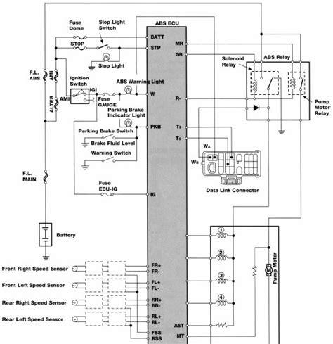 wiring diagram toyota anti lock brakes electrical wiring diagram manual