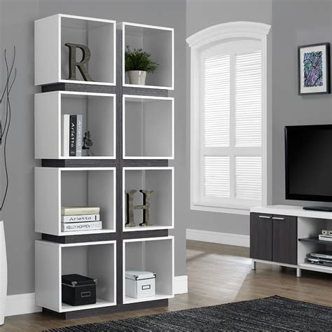 Modern Bookcases by Modern Bookshelf In White Open Concept Office