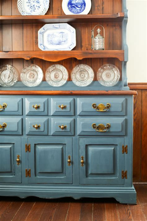 chalk painted hutch cleverly simple