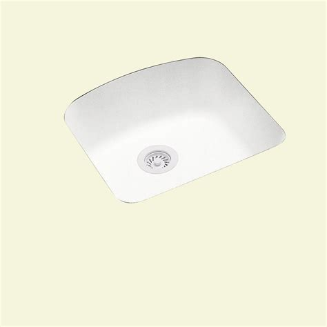 solid surface kitchen sink swan undermount solid surface 20 9 in 0 single bowl