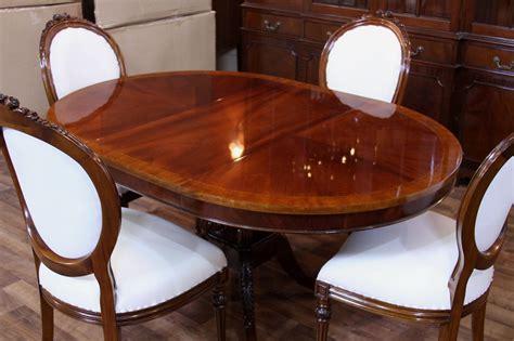 mahogany pedestal dining table  reproduction