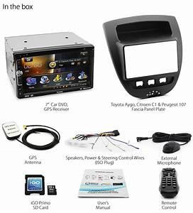 Toyota Aygo Citroen C1 Peugeot 107 Car Dvd Gps Player Radio Stereo Fascia Kit Et