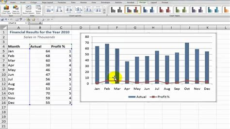creating combination charts  excel youtube