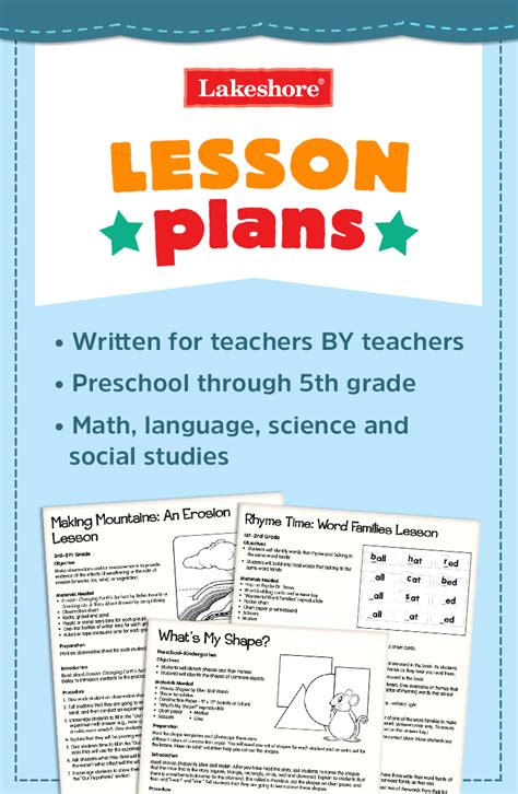 look to lakeshore for free lesson plans for language math