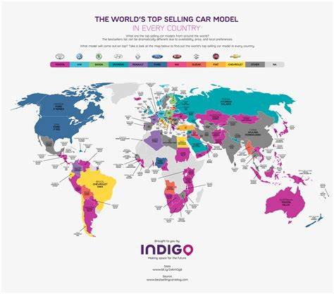 The World's Top Selling Car Model In Every Country Wheels24