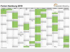 Ferien Hamburg 2019 Ferienkalender zum Ausdrucken