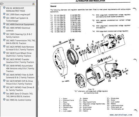case ih  xl tractors workshop manual