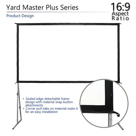 5 Best Outdoor Projector Screens (Jan 2020) Reviews