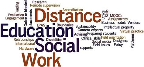 social work  distance education call  papers