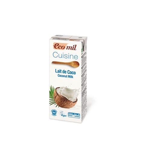 cuisine sans gluten sans lait briquette crème cuisine bio lait coco 200ml s gluten ecomil