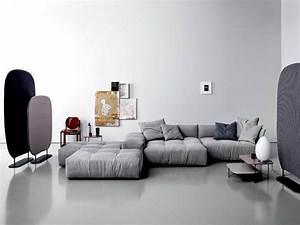 Saba Italia Händler : canap gris 50 designs en nuances grises pour votre salon ~ Frokenaadalensverden.com Haus und Dekorationen