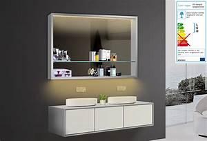 Spiegel Mit Aluminiumrahmen : design badezimmer spiegel spiegelschr nke spiegelregal led beleuchtung lkj100x75 ~ Sanjose-hotels-ca.com Haus und Dekorationen