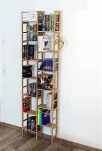 Bücherregal 90 Cm Hoch : b cherregal schmal unter 60 cm und ca 200 cm hoch modell limbach ~ Bigdaddyawards.com Haus und Dekorationen