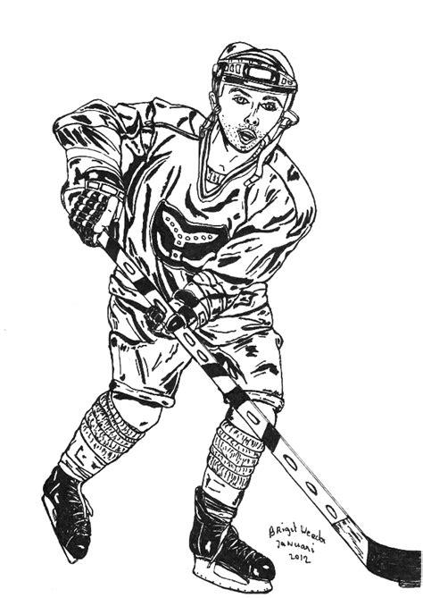 Kleurplaat Ijshockey by Pentekening Een Ijshockeyer Getekend Door Brigit Weeda