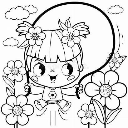 Coloring Garden Flower Pages Playing Colouring Cartoon