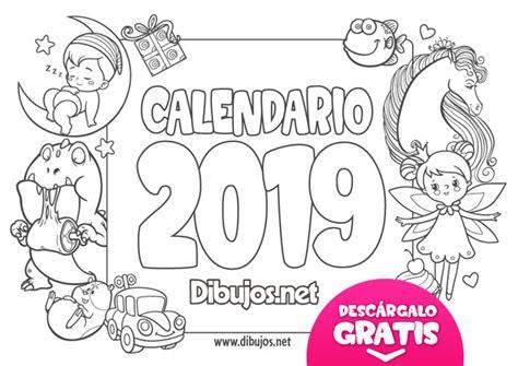 calendario infantil   imprimir  colorear dibujosnet